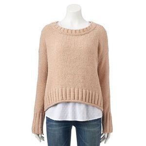 Sonoma Knitted Fuzzy long sleeve Sweater